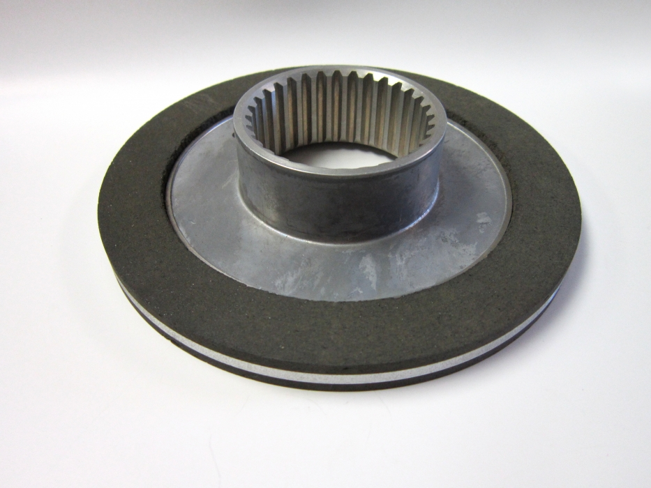 Cast Brake Rotor Machined With Bonded Friction And Splined Bore